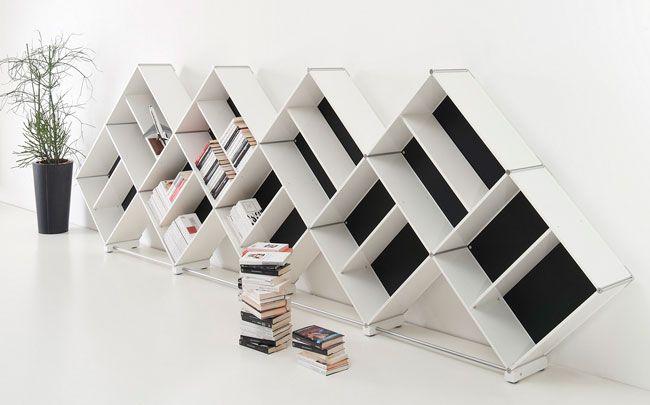 Aluminum bookcases modular bookcases