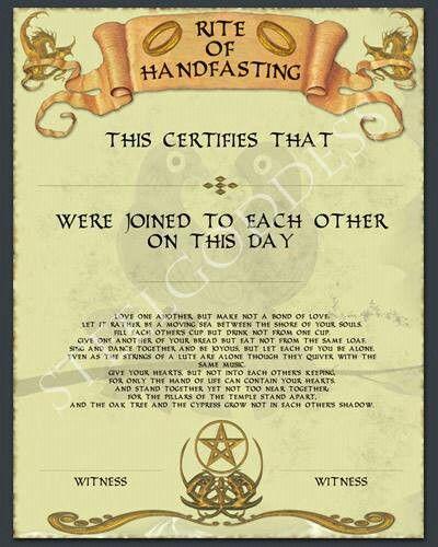 Celtic Wedding Vows: Handfasting