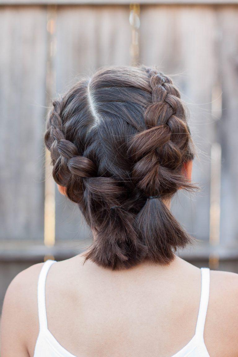 5 Braids For Short Hair Medium Hair Styles Short Hair Updo