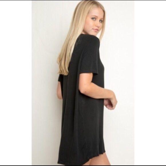 Brandy melville shirt dress Black above knee brandy melville shirt dress Brandy Melville Dresses