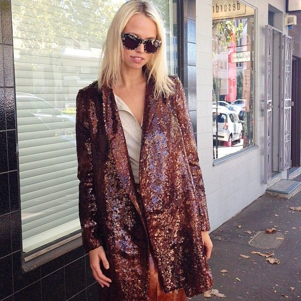 cola sequined coat....uhmazing