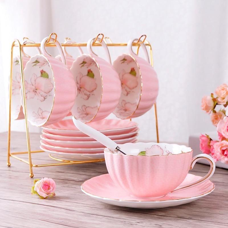 British High-Grade Bone China Coffee Cup Set