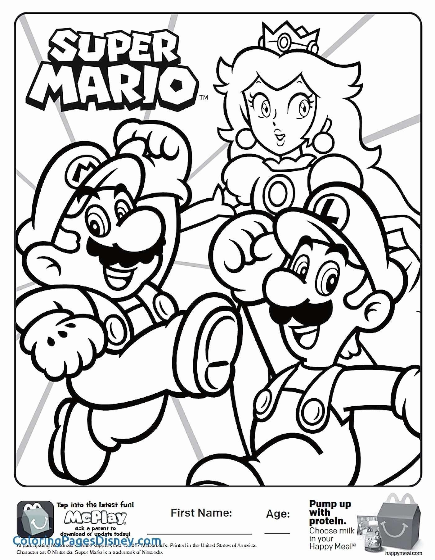 Mario Brothers Halloween Coloring Pages Pictures