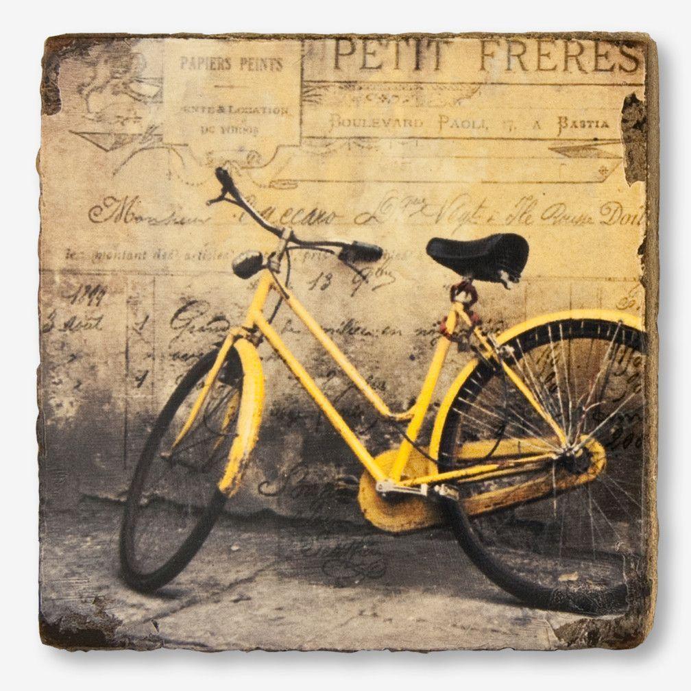 Cedar Mountain Studios: Lost + Found Art Block: Yellow Bicycle ...