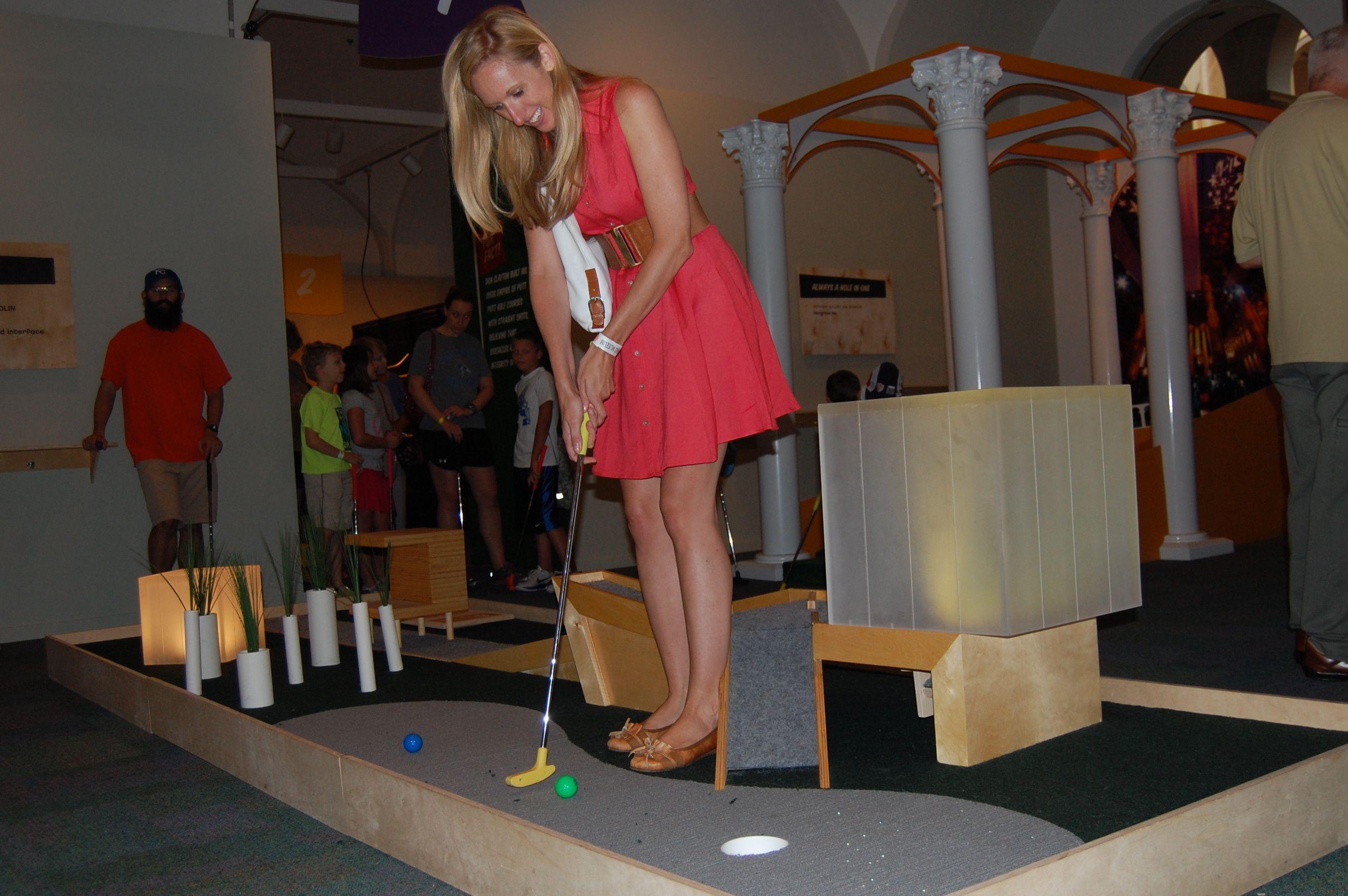 Golf Goes Indoors Mini Golf Work Fundraisers Golf