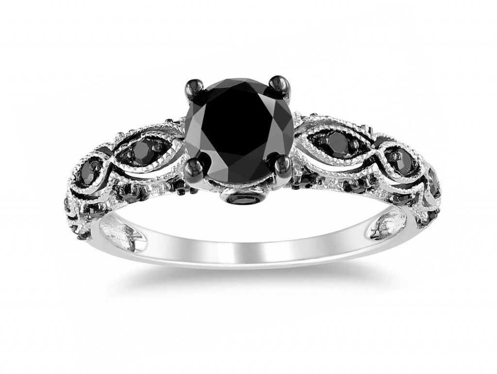 womens black wedding ring sets | black wedding rings | pinterest
