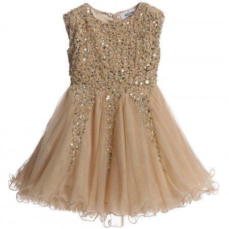 Moschino Kid-Teen - Gold Tulle Dress | Childrensalon