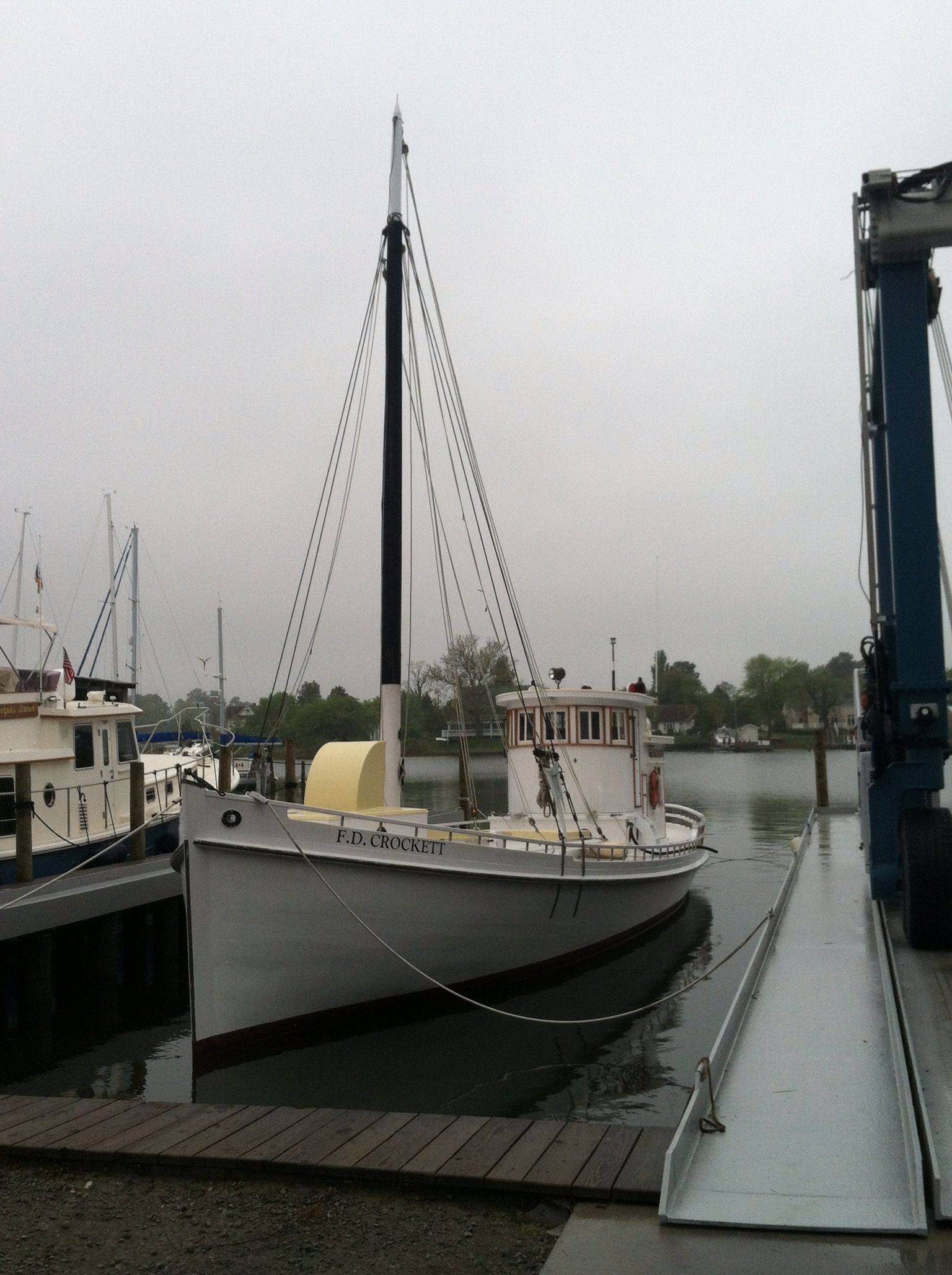 F.D Crocket, Deltaville, Va   Wooden boat plans, Wood boat ...