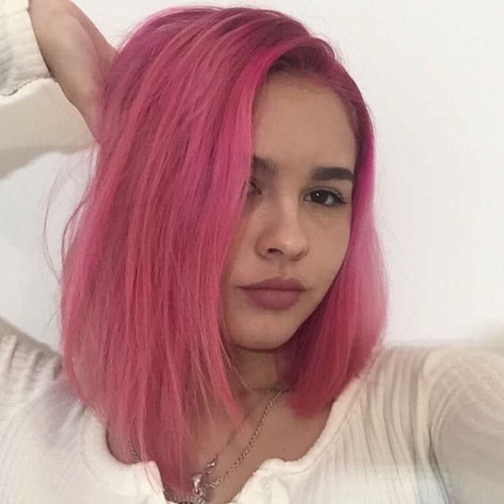 US $88.2 37% OFF|Preferred Hot Pink Straight Ombre Full Lace Human Hair Wigs 13x6 Lace Front Wig Remy Brazilian Transparent Lace Wigs For Women|Human Hair Lace Wigs|   - AliExpress
