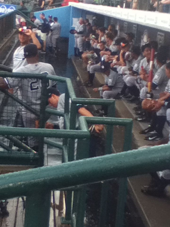 Picture of some Brooklyn Cyclone baseball players that I took