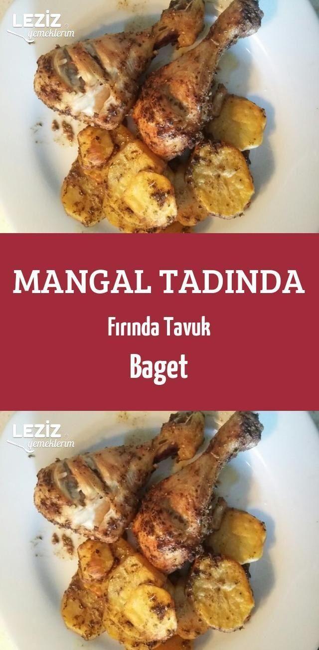 Mangal Tadında Fırında Tavuk Baget  #baget #Fırında #mangal #Tadında #tav