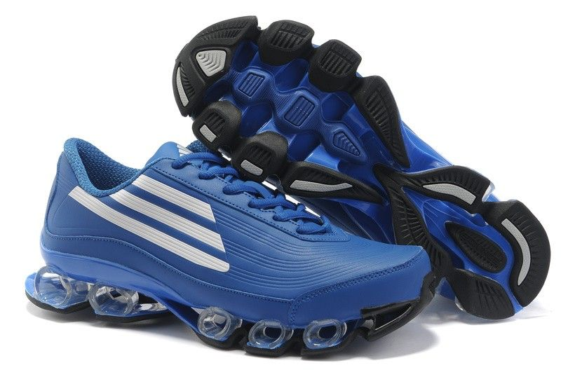 Adidas Bounce Titan Leather Mens Blue White Sport Running Shoes adidas  bounce sl Regular Price: