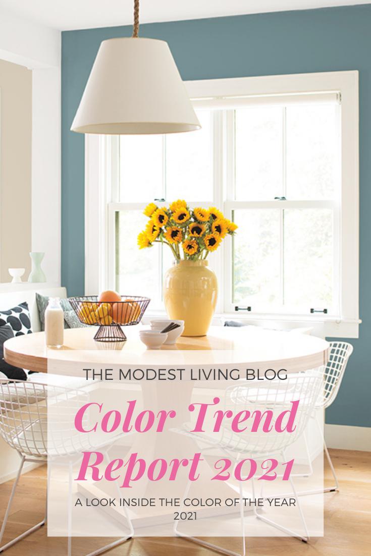 Looking for new inspiration for decorating your kitchen or bedroom? Find out more about the latest color trend for 2021 in the blog! Don't miss out! #Designtrend #Coloroftheyear #2021 #benjaminmoore #kitchencolorideas #homedecorideas #homedecor #latesttrend