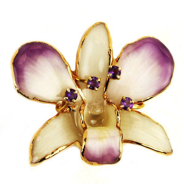 blooming navratna earrings orchid gemstone online earring jewelry