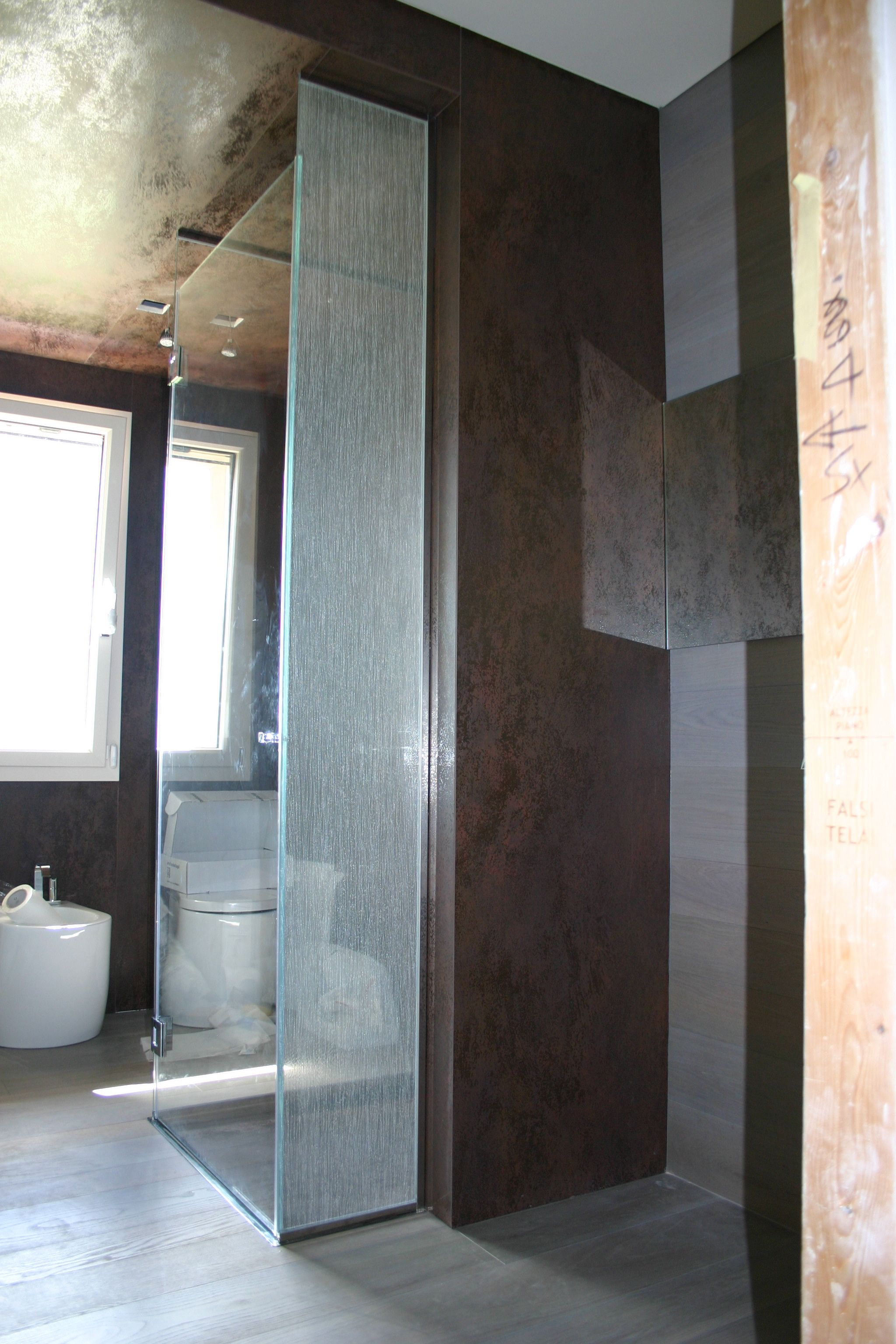 Box doccia con vetro tessuto San Marino Box doccia