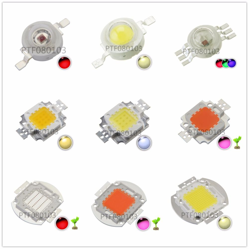 Yuksek Guc Led Cip 1 W 3 W 5 W 10 W 20 W 30 W 50 W 100 W Cob Smd Led Boncuk Beyaz Rgb Buyumek Tam Spektrum 1 3 5 Power Led Light Accessories Cool Things To Buy