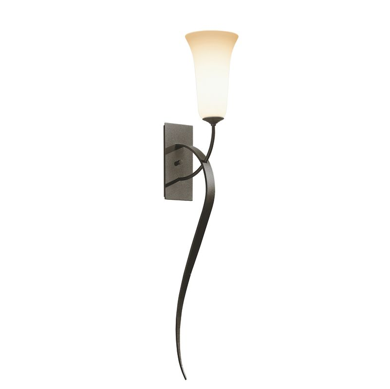 Hubbardton Forge 204527 1 Light Up Lighting Large Wallchiere Sconce from the Swe Dark Smoke Indoor Lighting Wall Sconces Wallchiere Sconces