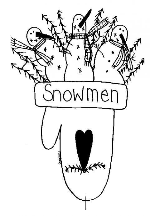 Free Winter Snowmen pattern   patterns   Pinterest   Bordado navidad ...