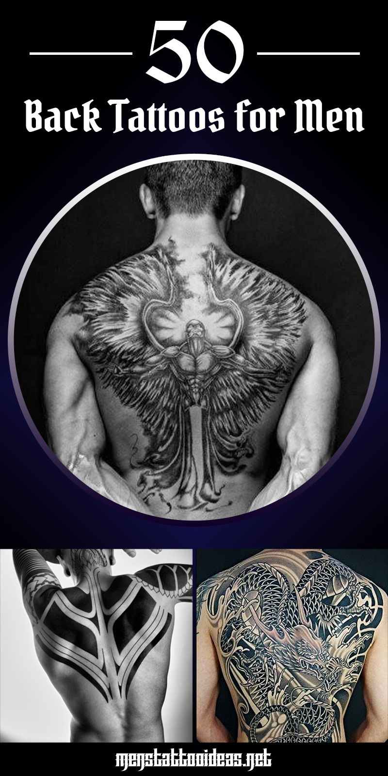 Back Tattoos for Men – Ideas and Designs for Guys   Back tattoos ...