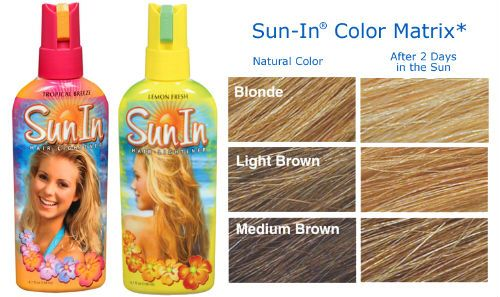 Sun In Use Sun In To Lighten Your Hair In Days Without Harsh Dyes