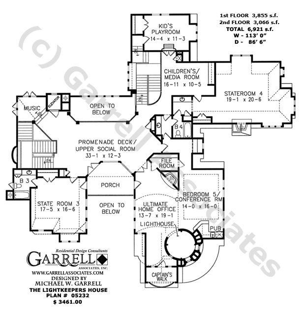 Lightkeepers House Plan # 05232, 2nd Floor Plan, Coastal ... on history house, hunting island light keeper house, pet shop house, hamster house, photography house, first light house, dog kennel house,