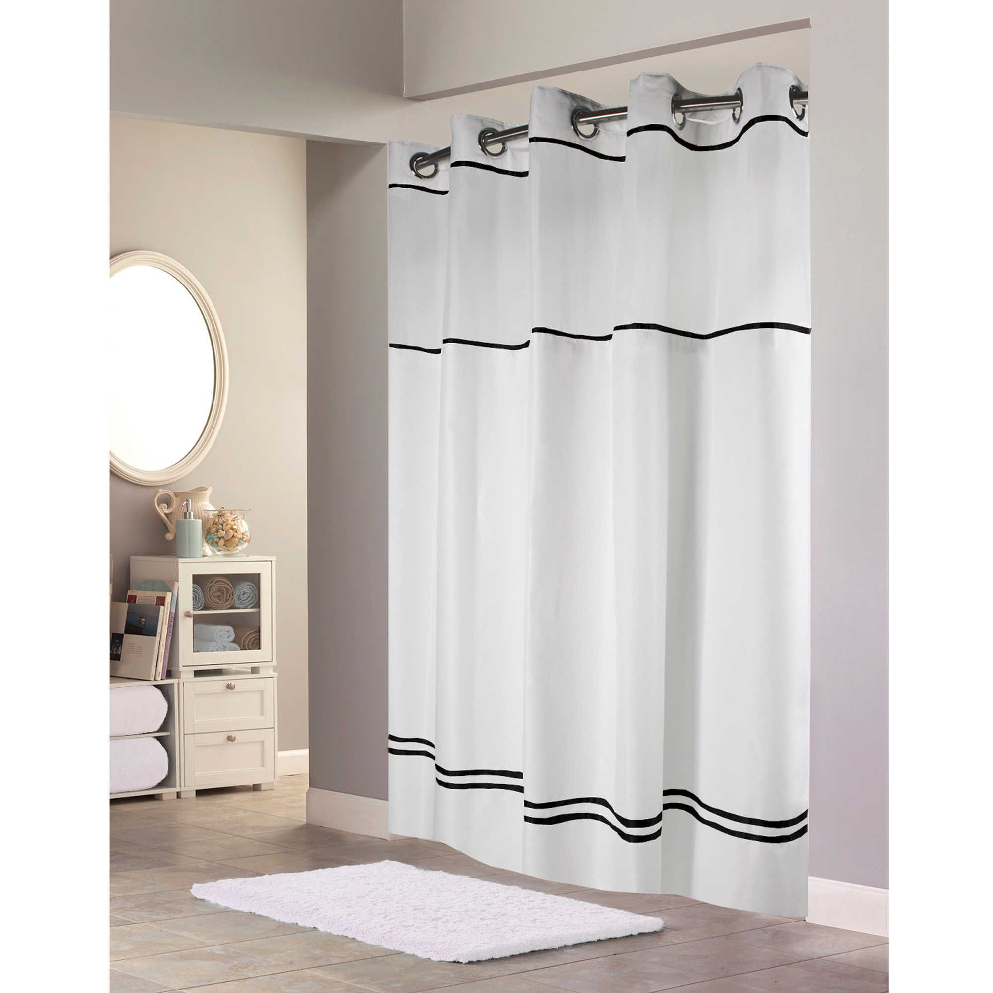 Hookless® Escape Fabric Shower Curtain and Liner Set