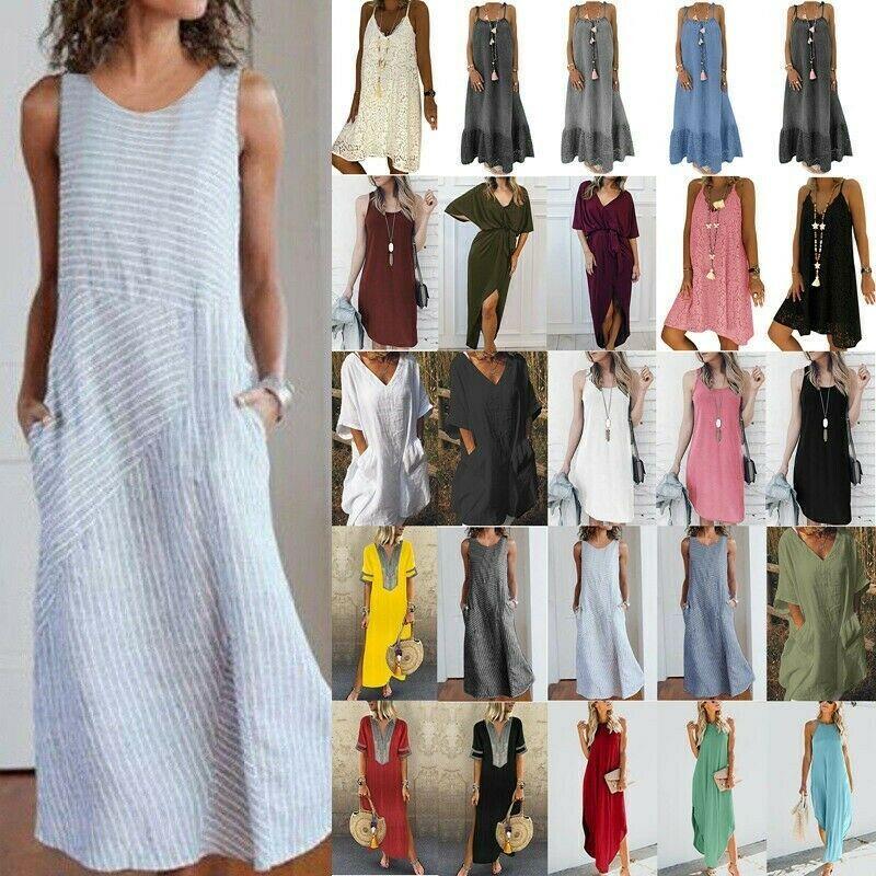 Damen Spitze Unterkleid Sommerkleid Strand Cover Up Party Ärmellos Minikleid Top