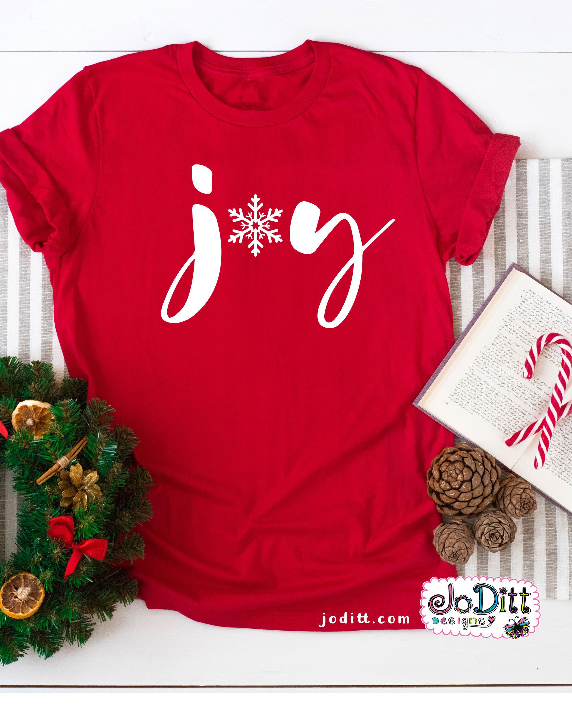 It's easy to spread joy with this festive Joy Christmas Shirt -Red and White Womens Christmas Shirt, Christian Christmas Shirt, Christmas Tee, Merry Christmas Shirt, Christmas Tshirt #christmasjoy #christmasshirt