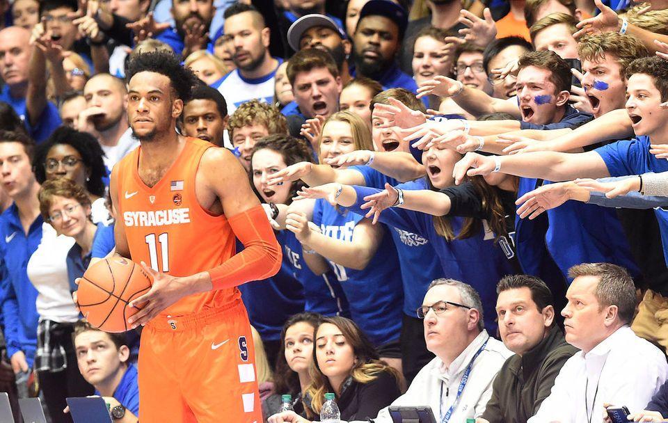 Syracuse Basketball Defeats No 1 Duke 95 91 Brent Axe