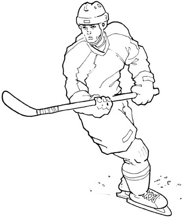 Nhl Players Coloring Pages | Coloring Page