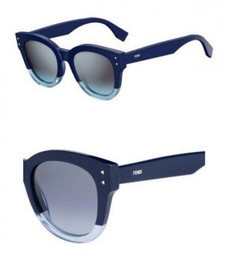 920a00d27183 Fendi Color Block FF 0239 PJP Womens Blue transparent light blue Plastic  Sunglasses