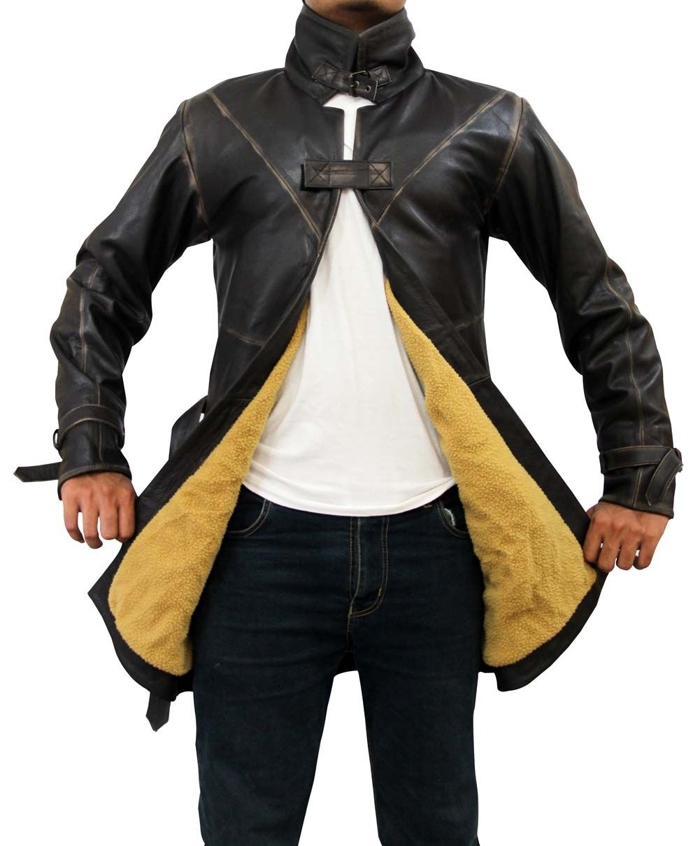 Leather jacket for dogs - The Watch Dogs Jacket Is Available In High Quality Cowhide Leather Stand Up