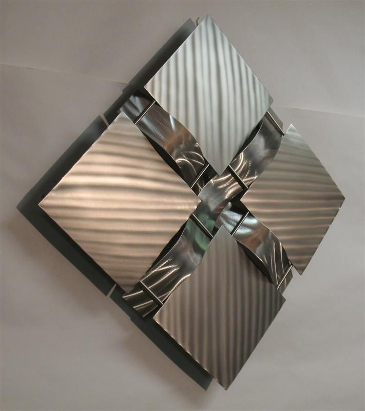 Contemporary Metal Wall Art metal art | contemporary stainless steel metal wall art sculpture
