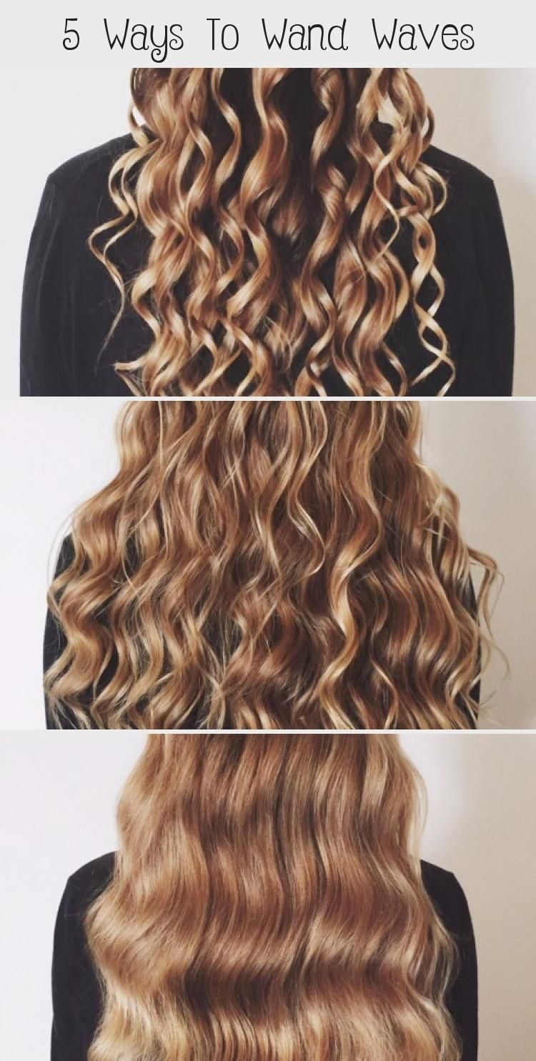 5 Ways To Wand Waves Hairstyles Nailstyles In 2020 Hair Styles Hair Waves Natural Hair Regrowth