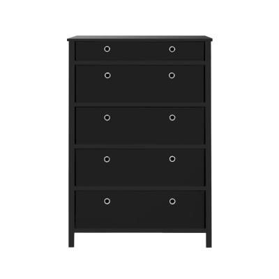 achim ez home solutions 5 drawer black foldable tall dresser ffr105bk01 the depot in 2020 furniture drawers queen comforter