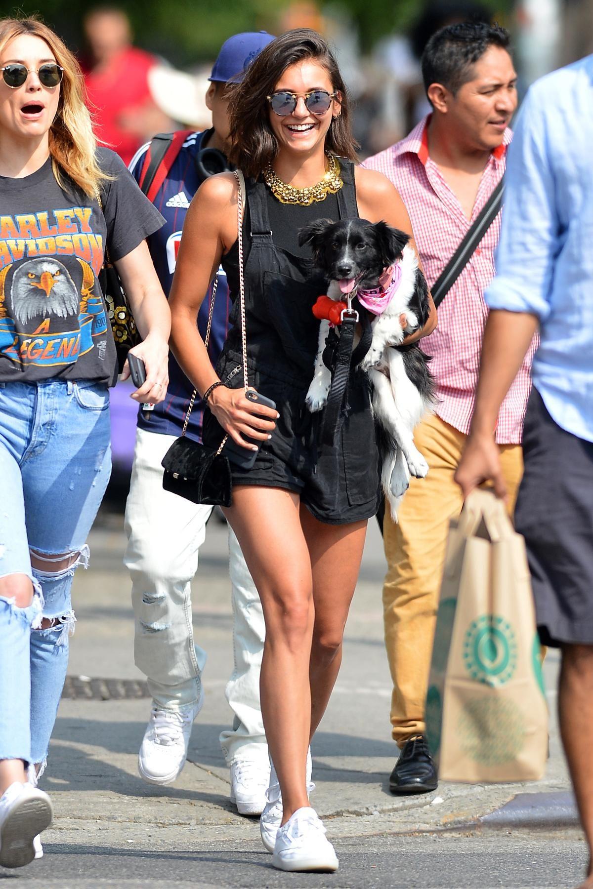d4b0e3944c29 Nina Dobrev wearing Reebok Lifestyle Club C 85 Diamond Sneakers and Krewe  St. Louis Sunglasses in Matte Sunday Tortoise