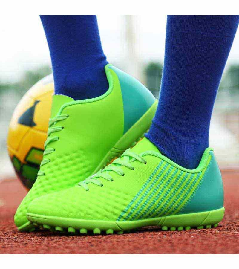 Green check stripe pattern soccer shoe in 2020 Fotball  Soccer