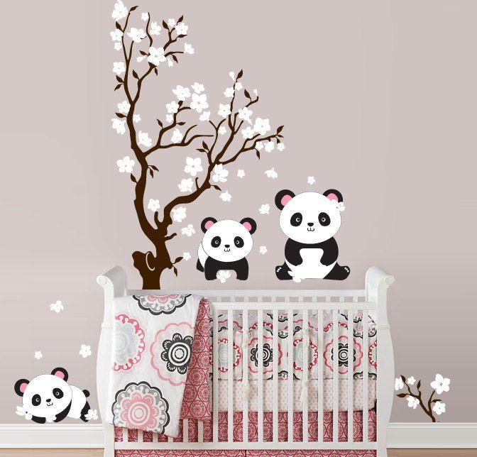 Baby Girl Nursery Room Panda Theme Decorating Ideas