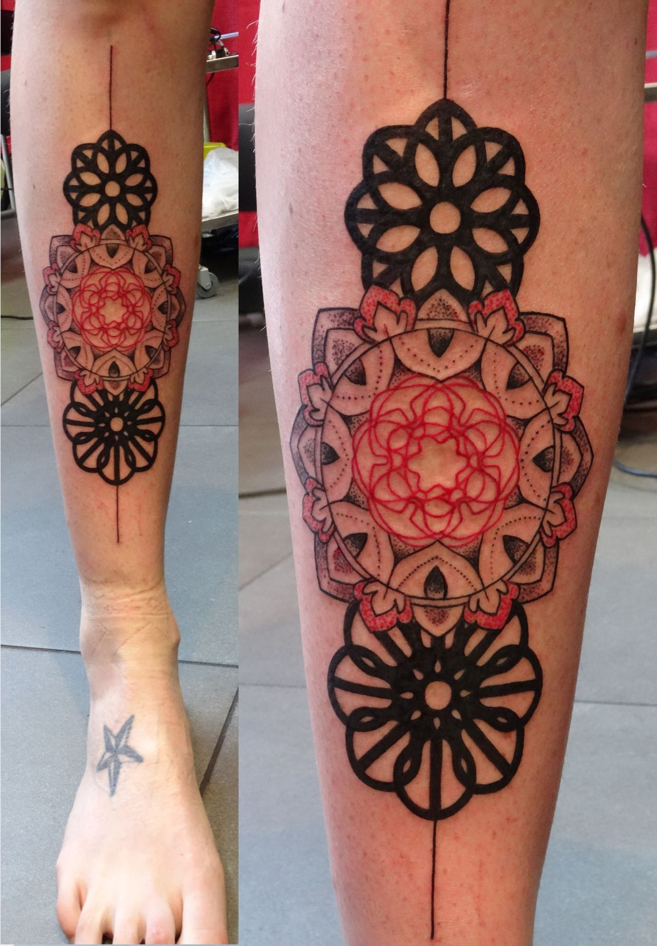 This is a photo of Remarkable Sacred Geometry Beetle Tattoo Drawing