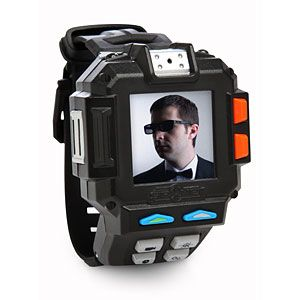 Real spy gear disguised as a kid's toy - with NIGHT VISION!        This spy watch records audio, video, stills (regular and time lapse) and also has games, missions, and apps.      And, it now features NIGHT VISION!      Oh, and it tells the time, too.