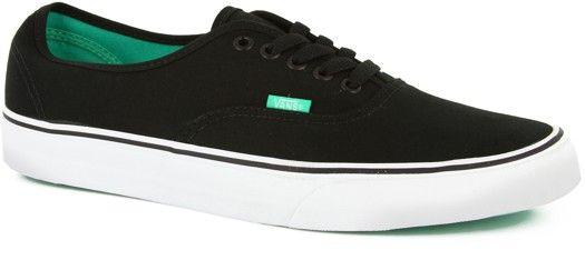 108d1a2729abd7 Vans authentic black aqua green