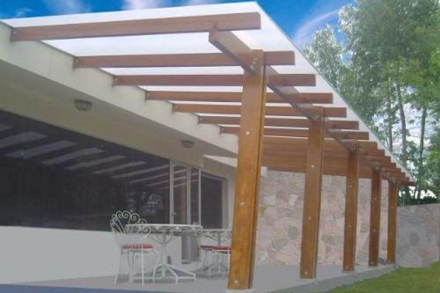 Terrakota terrazas techos y muebles de madera depa for Muebles terraza madera