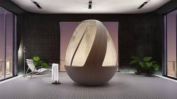 Moderna vasca da bagno con doccia l arredo bagno futuristico di