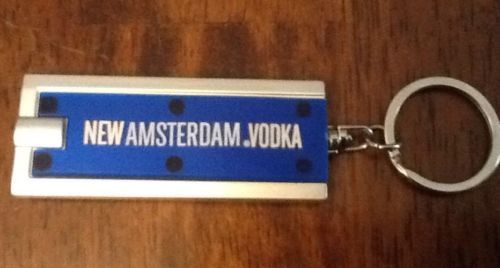 New Amsterdam Vodka Promotional Key Ring & Light Keychain New In Plastic in Collectibles | eBay Sold 1 @ $5.79 & 1 @ $3.99