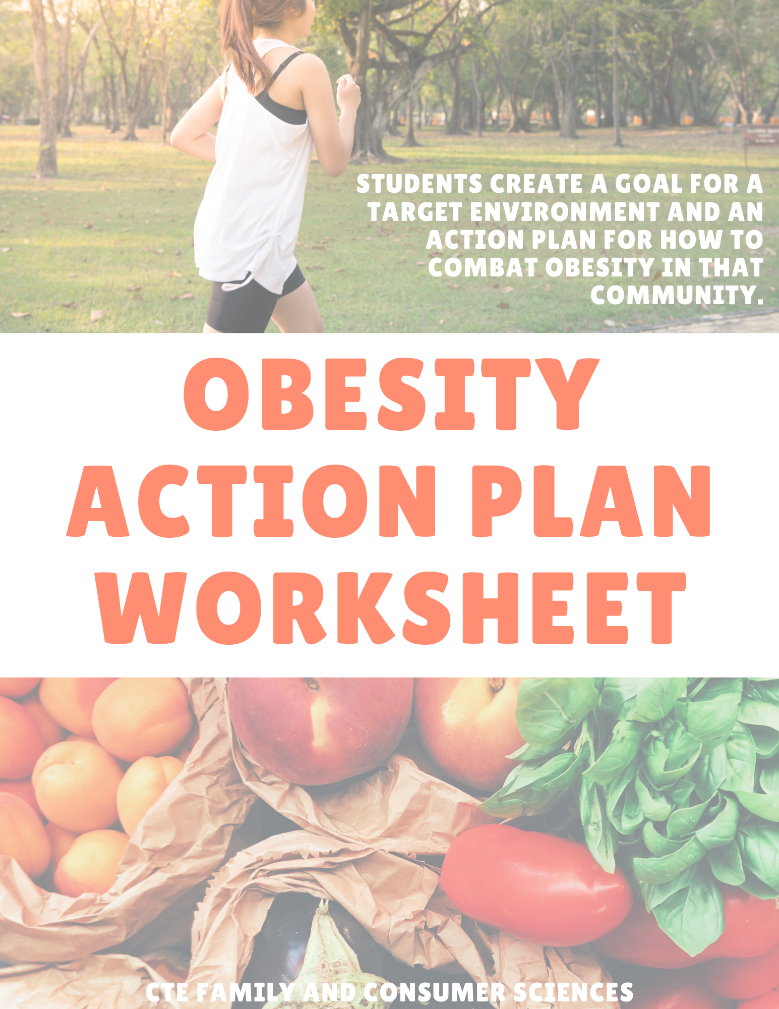 Obesity Action Plan Worksheet Health Or Nutrition Courses