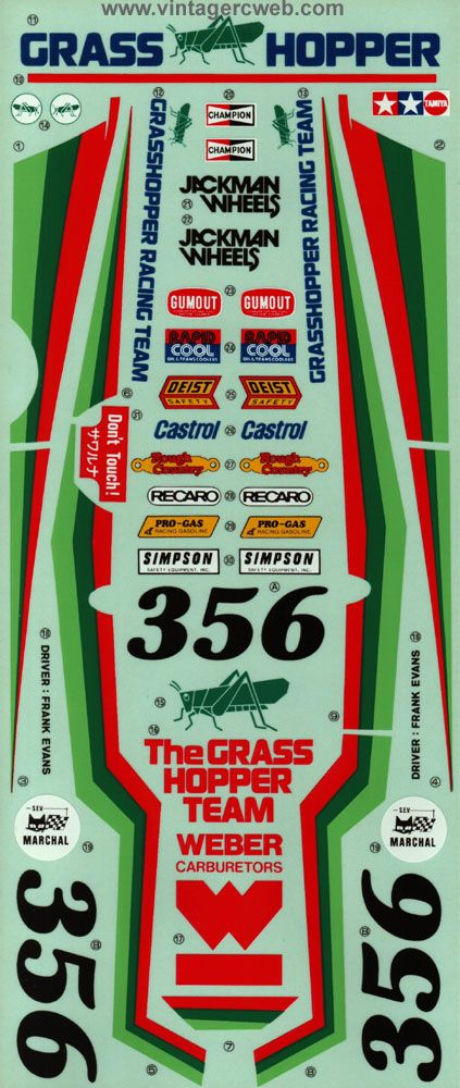 Tamiya Grasshopper Decal Sheets Pinterest Radio Control - Vinyl stickers for rc boats