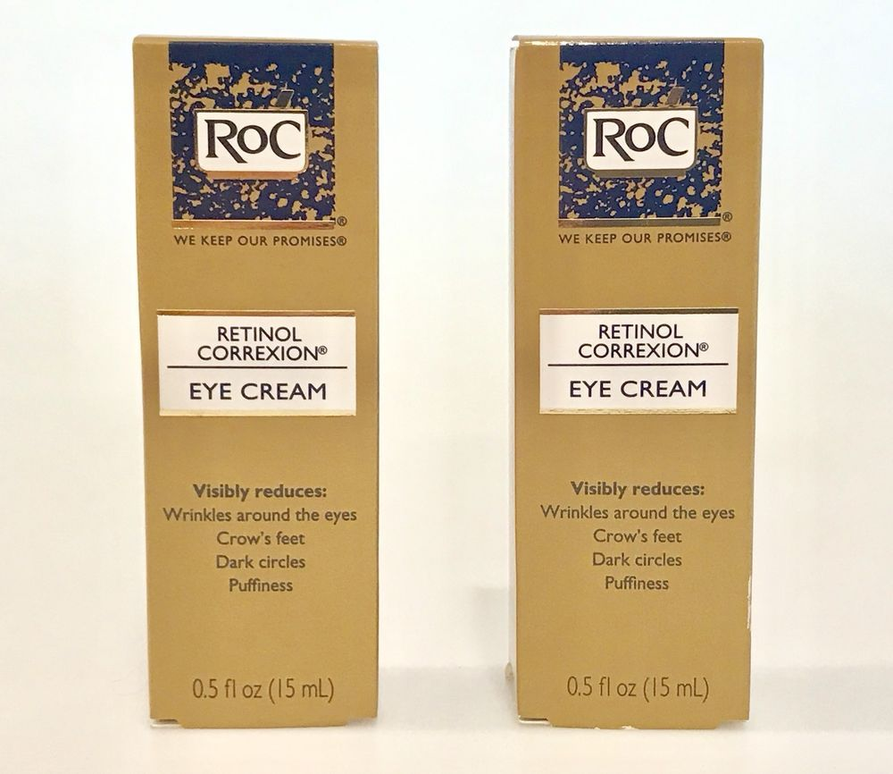 Best Wrinkle Cream 2020 2 RoC Retinol Correxion Eye Creams 0.5 oz each LOT OF 2 Expires 7