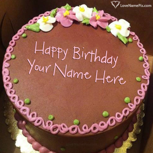 Birthday Cake With Photo Edit Name Happy