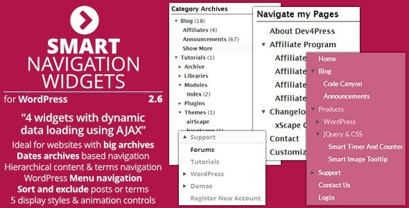 Smart Navigation Widgets Wordpress Plugins Wordpress