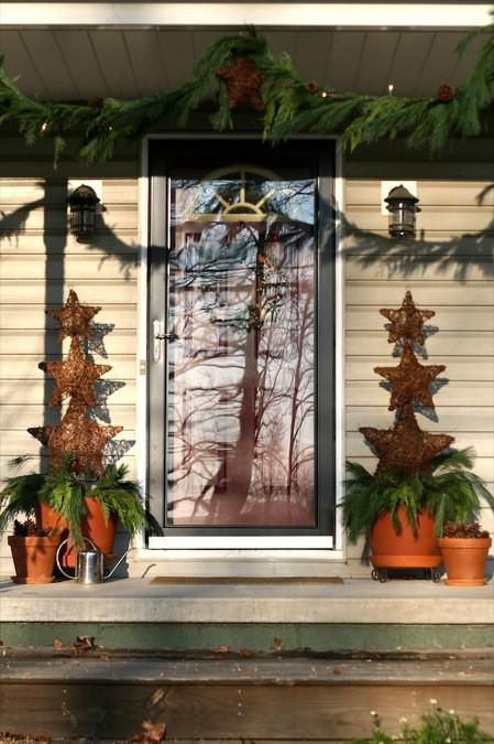 Decorating Front Yard Plants And Shrubs Penguin Christmas - christmas decorations for outside